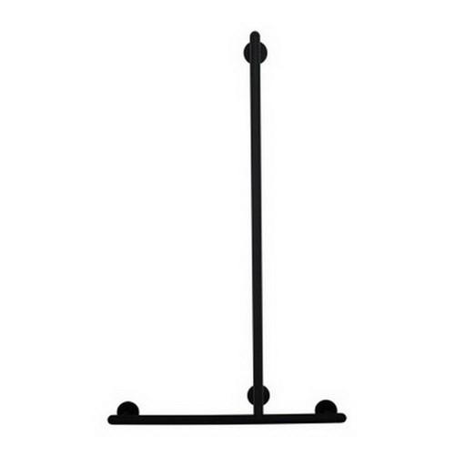 Raffaello 1116 x 666mm Shower T-Rail Matte Black [254247]