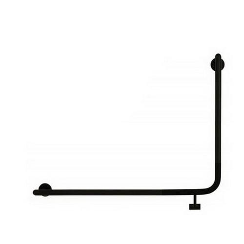 Raffaello 825 x 742mm Left Hand Accessible Grab Rail Matte Black [254248]