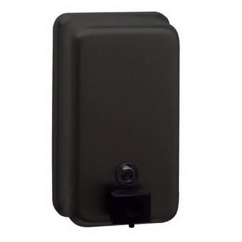 1.2L Capacity Vertical Liquid Soap Dispenser Matte Black [254259]