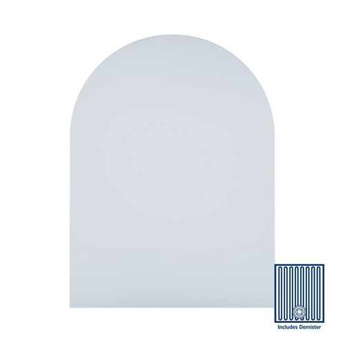 Aspen Church Shape Polished Edge Mirror 750 x 1000mm with Hangers & Demister [254354]