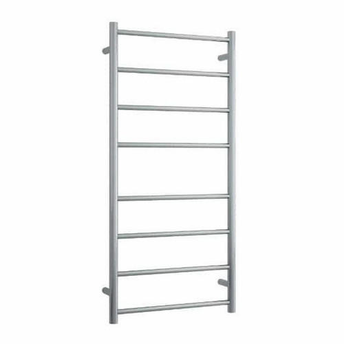 Thermorail Round Heated Towel Ladder 80W 8 Bar 530 x 1120mm Brushed Stainless Steel [254386]