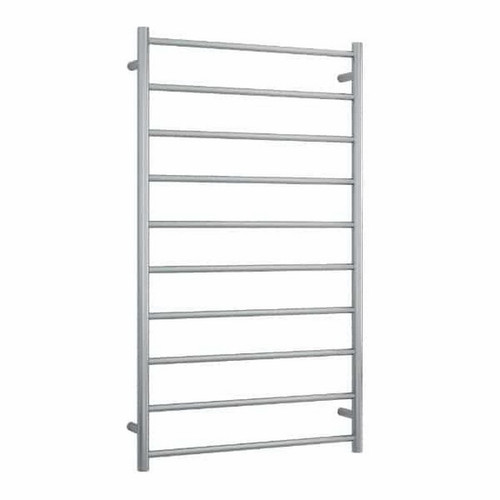 Thermorail Round Heated Towel Ladder 158W 700 x 1200mm Brushed Stainless Steel [254387]