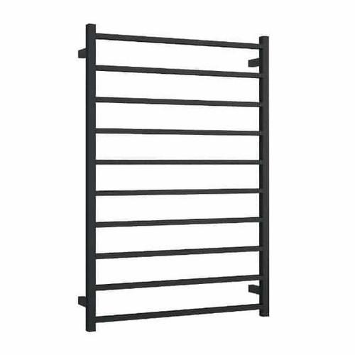 Thermorail Square Heated Towel Ladder 217W 800 x 1160mm 10 Bar Matt Black [254389]