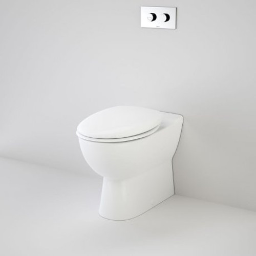 Leda Care Invisi Series II® Wall Faced Suite With Caravelle Care Single Flap Seat - White [111419]