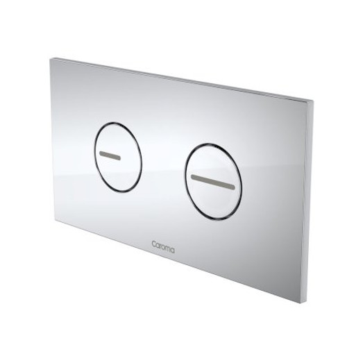 Invisi Series II® Round Dual Flush Plate & Buttons (Plastic) Chrome [111404]