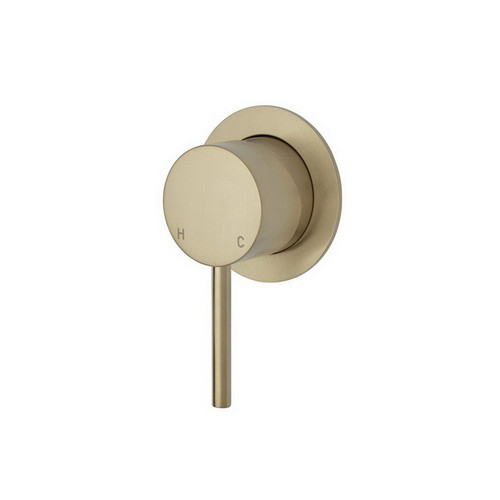 Kaya Wall Bath/Shower Mixer Small Round Plate PVD Urban Brass [201618]