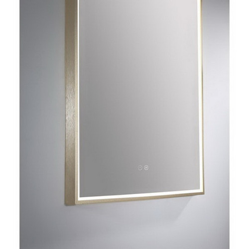 Arch 500 Vertical LED Lighting Mirror with Demister Brushed Brass Aluminium Frame [254982]