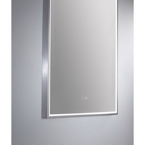 Arch 500 Vertical LED Lighting Mirror with Demister Brushed Nickel Aluminium Frame [254983]