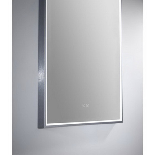 Arch 500 Vertical LED Lighting Mirror with Demister Gun Metal Aluminium Frame [254984]