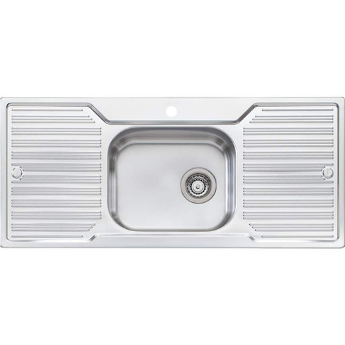 Diaz Single Bowl Topmount Sink With Double Drainer-1TH [112988]