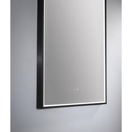 Arch 500 Vertical LED Lighting Mirror with Demister Matt Black Aluminium Frame [254985]