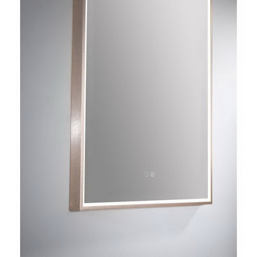 Arch 500 Vertical LED Lighting Mirror with Demister Rose Gold Aluminium Frame [254986]