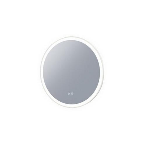 Eclipse 600 Frontlit Round LED Lighting Mirror with Demister Matt White MDF Frame [254988]