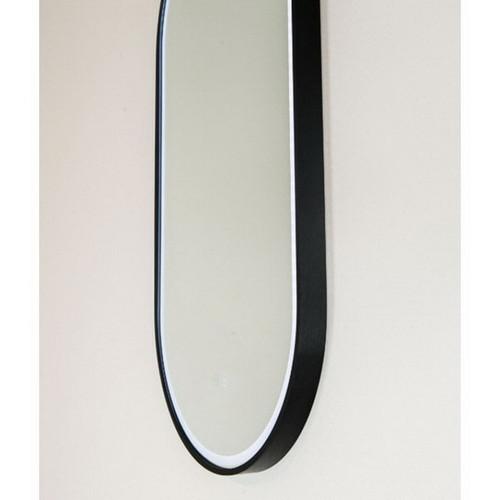 Gatsby 460 Vertical LED Lighting Mirror with Demister Matt Black Aluminium Frame [254999]