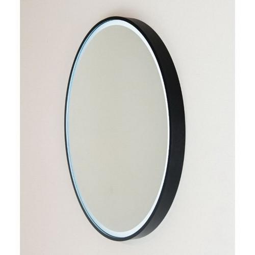 Sphere 800 LED Lighting Mirror with Demister Matt Black Aluminium Frame [255106]