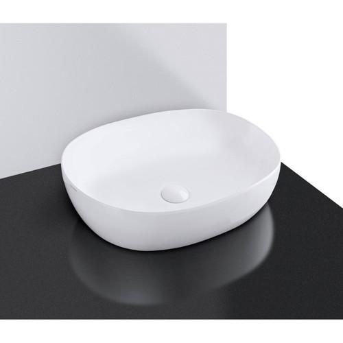 600mm Vita Above Counter Basin Gloss White No Tap Hole [150855]
