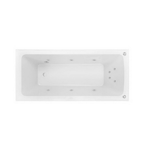 Shenseki 1395mm Santai 10-Jet Spa Bath 137L Premium Sanitary Grade Acrylic High Gloss White [153809]