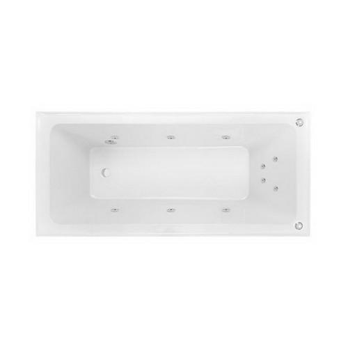 Cortez 1670mm Santai 10-Jet Spa Bath 154L Premium Sanitary Grade Acrylic High Gloss White [153810]