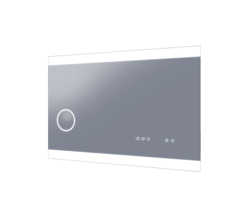 Miro 1200 Chic Horizontal LED Lighting Mirror with Touch Sensor, Demister, Magnifier & & Digital Clock [168466]