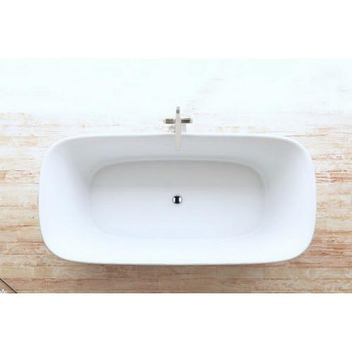 Lola 1700mm Freestanding Bath 198L Premium Sanitary Grade Acrylic High Gloss White [180787]