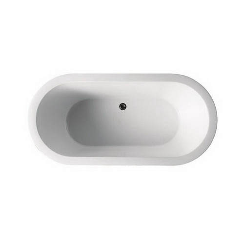 Cool 1500mm Freestanding Bath 140L Premium Sanitary Grade Acrylic High Gloss White With Overflow Hole [191837]