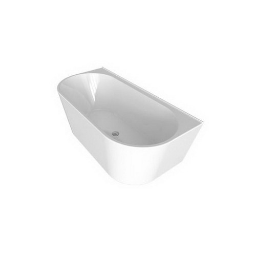 Alegra 1700mm Back-to-Wall Freestanding Bath 175L Premium Sanitary Grade Acrylic High Gloss White [191823]
