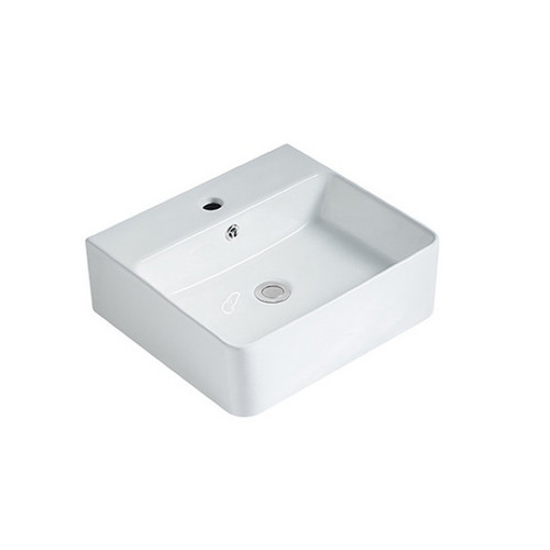 Aria 460mm Above Counter Basin 5.2L Vitreous China High Gloss White 1 Tap Hole [254415]