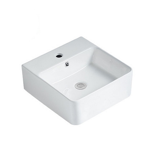 Aria 400mm Above Counter Basin 4.5L Vitreous China High Gloss White 1 Tap Hole [254416]