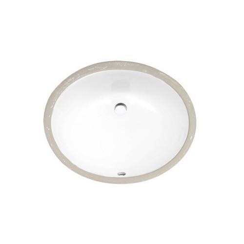 Novara 460mm Undermount Basin 5.2L Vitreous China High Gloss White No Tap Hole [254437]