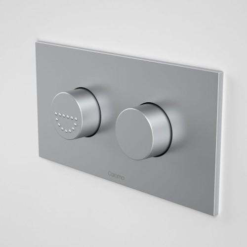 Invisi Series II® Round Dual Flush Plate & Raised Care Buttons (Plastic) Satin [114998]