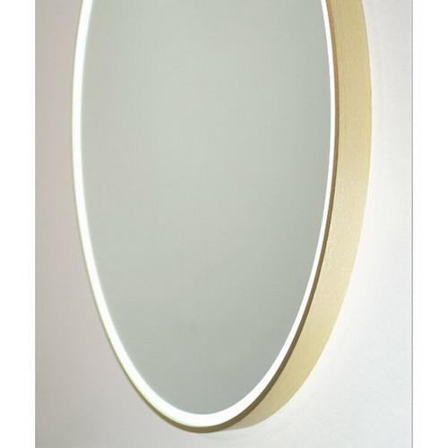 Sphere 600 LED Lighting Mirror with Demister Brushed Brass Aluminium Frame [255064]