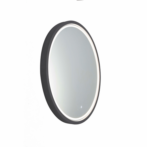 Sphere 600 LED Lighting Mirror with Demister Coal Concrete Frame [255066]