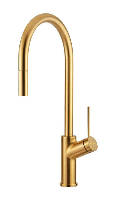 Vilo Brushed Gold Pull Out Mixer [255146]
