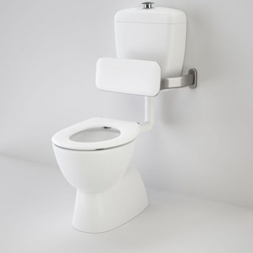 Care 400 Connector (S Trap) Suite With Backrest And Caravelle Care Single Flap Seat - White [125336]