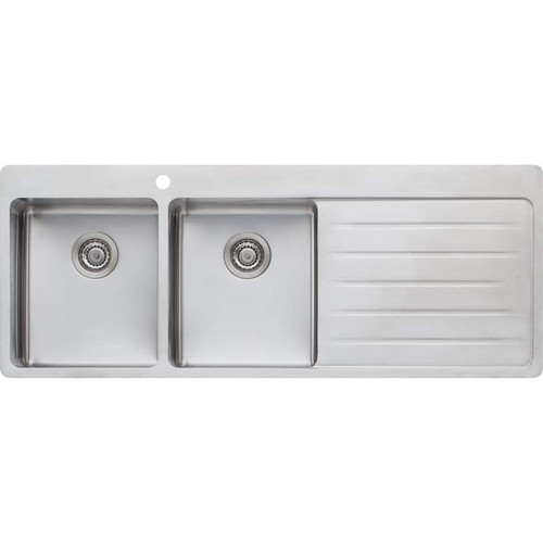 Sonetto Double Bowl Topmount Sink With Drainer-1TH [120798]