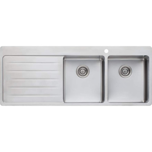 Sonetto Double Bowl Topmount Sink With Drainer-1TH [120799]
