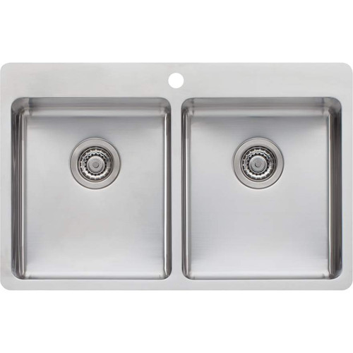 Sonetto Double Bowl Topmount Sink-1TH [120797]
