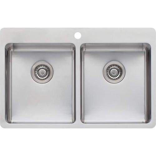 Sonetto Double Bowl Topmount Sink-1TH [120797]