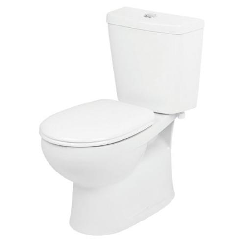 Venecia Close Coupled Toilet Suite - Bottom Inlet, P Trap, Soft Close Seat [126811]