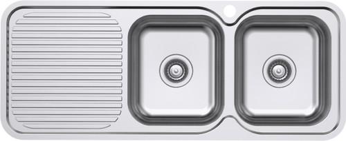 Classic Standard 1180 RH 2 Bowl & Drainer-1TH [131447]