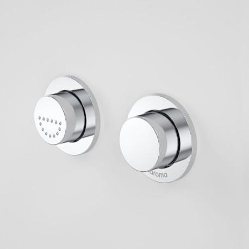 Invisi Series II® Round Dual Flush Raised Care Remote Buttons (Plastic) [133791]