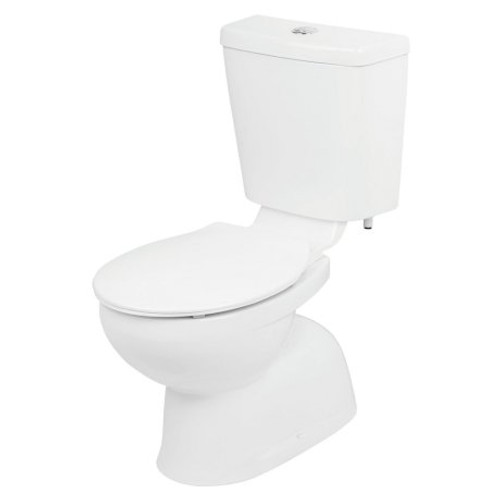 Venecia Connector Toilet Suite - Bottom Inlet, S Trap, Soft Close Seat [134497]