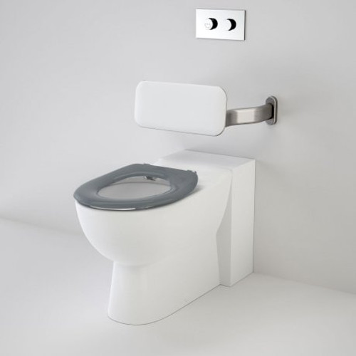 Leda Care Invisi Series II® Wall Faced Suite With Backrest And Caravelle Care Single Flap Seat - Anthracite Grey [136051]