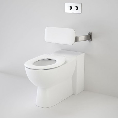 Leda Care Invisi Series II® Wall Faced Suite With Backrest And Caravelle Care Single Flap Seat - White [136052]