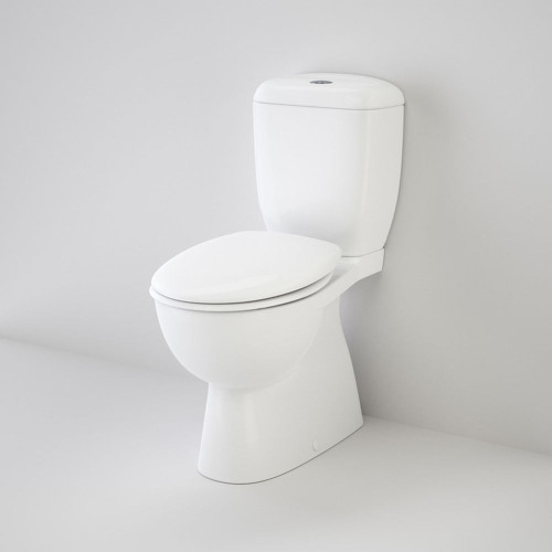 Caravelle Easy Height 'Armrest Enabled' Close Coupled (Bacent) Suite With Caravelle Commercial Double Flap Seat - White [136248]