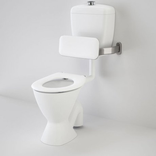 Care 300 Connector (P Trap) Suite With Backrest And Caravelle Care Single Flap Seat - White [136243]