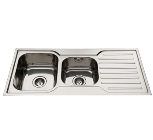 Classic Square 1080 1.75 Bowl & Drainer-NTH [136701]