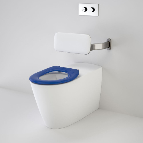 Care 800 Cleanflush® Invisi Series II® Wall Faced Suite With Backrest And Caravelle Care Single Flap Seat - Sorrento Blue [137898]