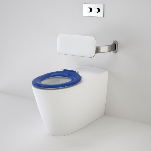 Care 800 Cleanflush® Invisi Series II® Wall Faced Suite With Backrest And Pedigree II Care Single Flap Seat - Sorrento Blue [137902]