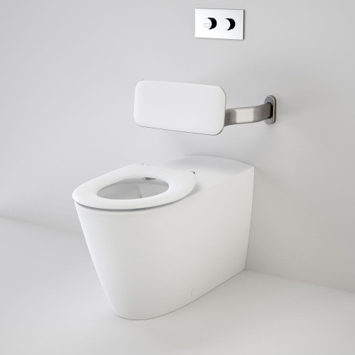 Care 800 Cleanflush® Invisi Series II® Wall Faced Suite With Backrest And Caravelle Care Single Flap Seat - White [137910]